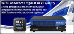 VITEC Announces Highest HEVC Quality