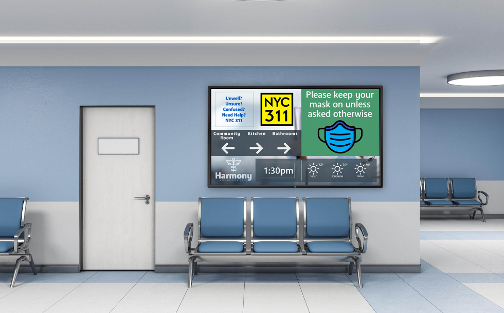waiting room healthcare digital signage