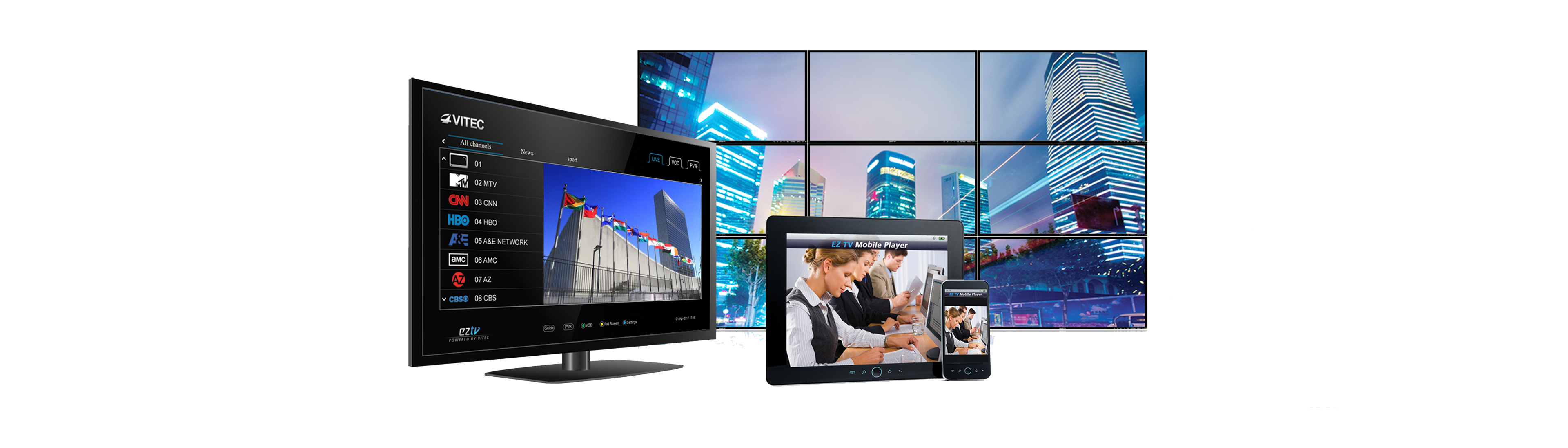VITEC - IPTV Digital Signage End Points - Single point of management , professional - grade, hardware - based digital video player