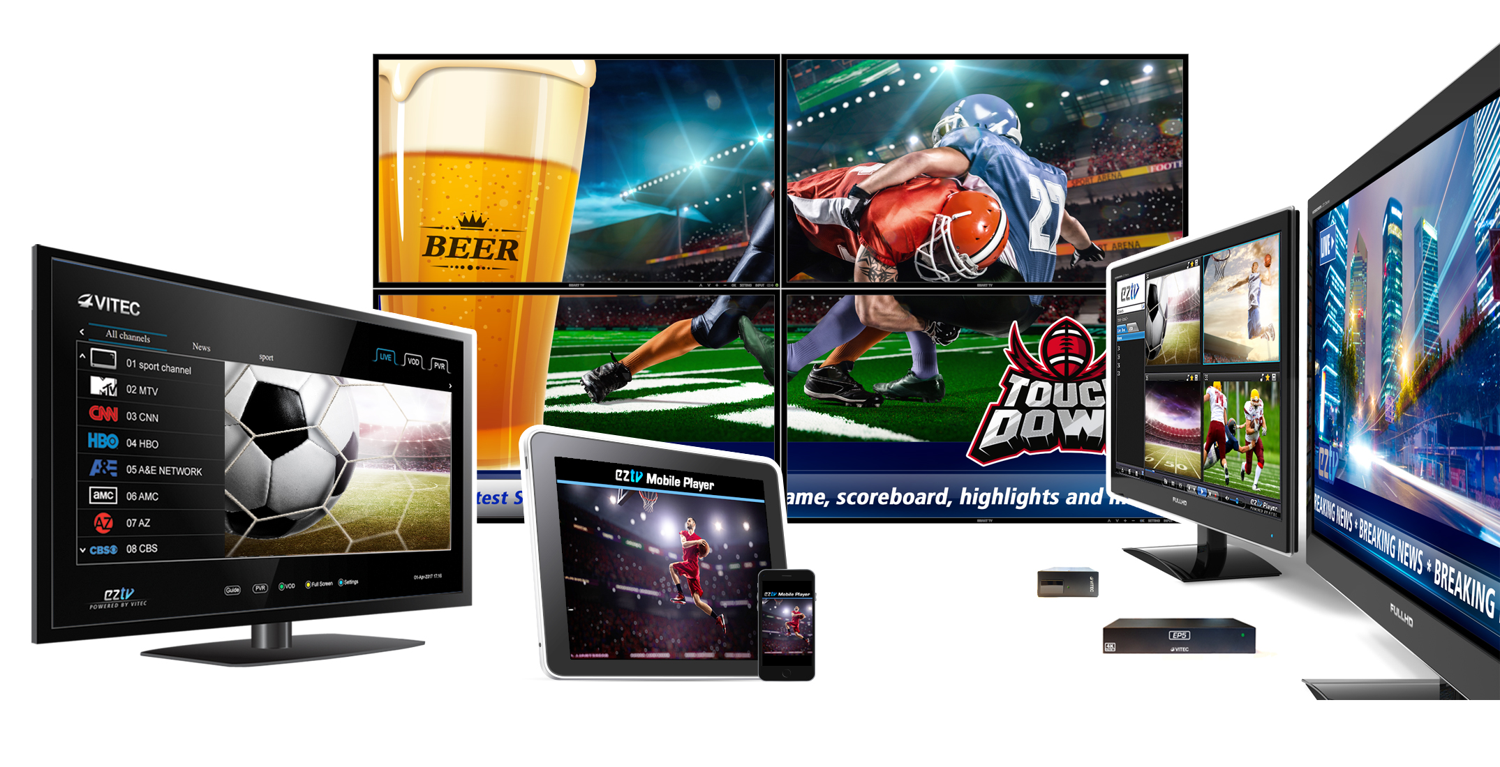 IPTV and Digital Signage End Points